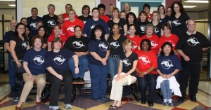 The Kingwood Medical Center Staff sporting their Wanna Get Lucky? shirts