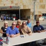 JNF Vice President, Kari Ulrich (left), Natalie Niekro and Dr. Brown with Minnesota Twins alum Tim Laudner, Dan Gladden and Tony Oliva for Brain Aneurysm Awareness Day at Target Field
