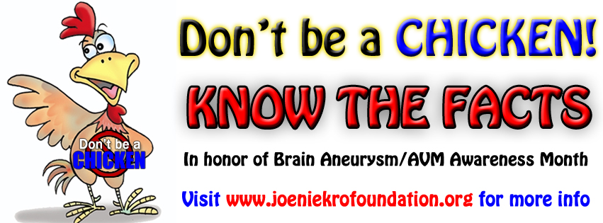 http://www.joeniekrofoundation.com/aneurysms/we-want-to-see-your-chicken-dance/